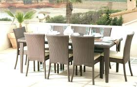 wicker dining table chairs the fresh rattan dining room chairs with wicker table set regarding the
