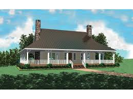 country style home with deep wrap around porch