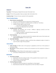 Types Of Sampling Design Lectures Lecture Notes 1 8 Stat 104 Ufv Studocu