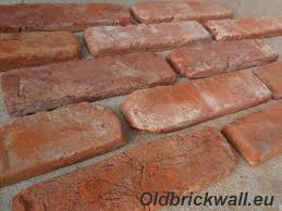 outside sclices of antique bricks