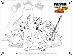 alvin and the chipmunks coloring pages printable in to print