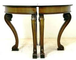 round console table half circle accent tables small side regency def canada