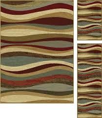 4 piece area rug sets three piece area rugs latitude run brown 3 piece area rug