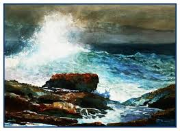 Winslow Homer Incoming Tide Scarboro Maine Seascape Counted Cross Stitch Pattern