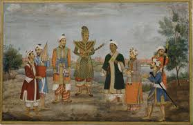 eight men in indian and burmese costume