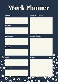 Schedule Maker Work Customize 181 Weekly Schedule Planner Templates Online Canva