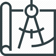blueprint calculate divider drawing plan icon