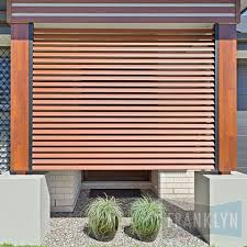 privacy screen aluminium louvre panel timber look franklyn