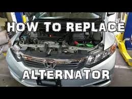 2012 honda civic alternator replacement youtube Honda Accord Stereo Wiring Diagram at 2012 Honda Accord Alternator Problem Wiring Diagram
