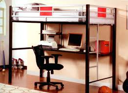 Bunk Bed With Desk Underneath Canada Lulu Twin Loft Bed With 2 Bookcases  Furniture Of Photo Details Bunk Bed Office Bunk Bed With Desk Underneath  For Sale
