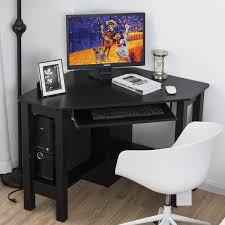 wooden corner desk. Costway Wooden Corner Desk With Drawer Computer PC Table Study Office Room Black 2 R