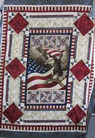 90 best Quilts with Panels images on Pinterest | Quilt patterns ... & Check out this wonderful Flight of the Eagle panel quilt (made by Bill B) Adamdwight.com