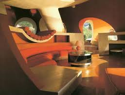 seventies furniture. the palais bulles of pierre cardin by architect antti lovag seventies furniture l