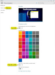 Windows 10 Color Scheme Create Color And Appearance Shortcut In Windows 10 Tutorials