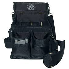 14 pocket electricians professional pouch in black