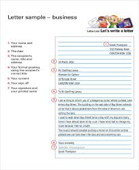 Business Letter Format Example Sample Bio 5 Aab 3 A 9 C 4 Ba 85 ...