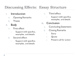 cause and effect purpose of cause and effect  purpose  discussing effects essay structure i introduction a