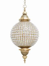 crysta moroccan ceiling light crystals