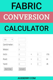Sewing Measurement Conversion Chart Fabric Conversion Calculator Ageberry Helping You Succeed