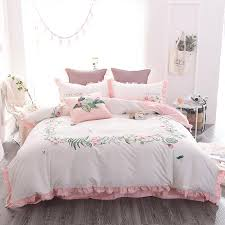4 6 luxury egypt cotton stereo dragonfly bedding set embroidery ruffles duvet cover bed sheet pillowcases queen king size unique bedding comforters