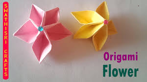 Made Flower With Paper How To Fold Origami Flower Paper Crafts Do It Yourself