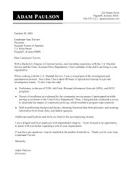 Cover Letter Samples For Criminal Justice Jobs Eursto Com