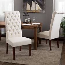 Patterned Dining Chairs Adorable Amazon Cooper Tall Back Natural Fabric Dining Chairs Set Of 48