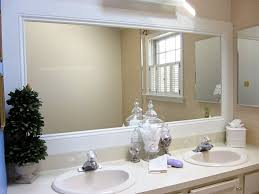 Bathroom Crown Molding Awesome How To Frame A Bathroom Mirror