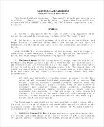 Purchase Agreement Samples Business Sale Template Purchase Agreement Word Trejos Co