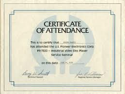 Sample Certificate Of Attendance Template 1 Best Samples Templates