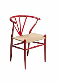 contemporary scandinavian furniture. scandinavian design chair in red metal and rattan contemporary furniture