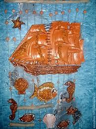 pendants handmade livemaster handmade sailboat and sea mural ceramic fish on the