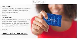 does dillard s offer gift cards knoji
