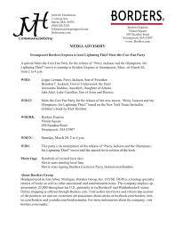 Media Advisory Label Your Document As A Media Advisory So The Person Yo