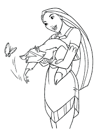 awesome disney coloring pages pocahontas design printable