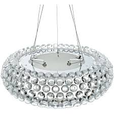 modway halo 25 acrylic crystal hanging chandelier in clear com