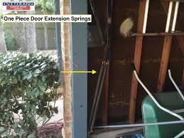 one piece garage door extension springs