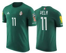 Mexico 11 Apparel World Cup Vela T-shirt Carlos 2018 Green