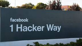 A Facebook Incu0027s Entrance Sign At The Corporate Office In California Stock  Images