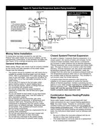 american water heater polaris high efficiency commercial gas water page 15 15 figure 15 typical one temperature system piping installation mixing valve installation