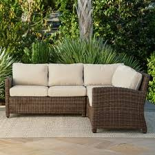 outdoor sectional. Contemporary Sectional Kiana Patio Sectional With Cushions For Outdoor C