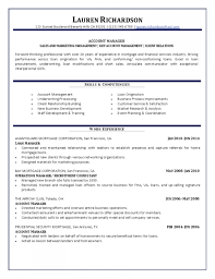 Fascinating Account Management Resume Templates Executive Skills