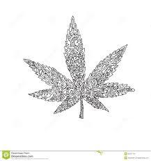 S Dessin Coloriage Feuille De Cannabisl