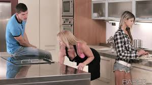Horny MILF joins teen hottie Gina Gerson and boyfriend for.