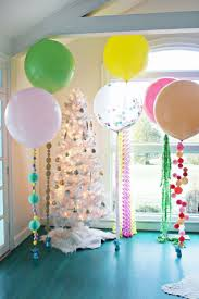 Interior Design  View Balloon Themed Birthday Party Decorations Simple Balloon Decoration Ideas At Home