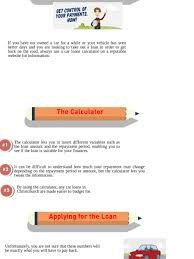 pay back loans calculator how a car loans calculator can help with your loan visual ly