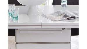 Esstisch Alando Weiß Edelstahl Ausziehbar 160200x90 Cm