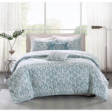 madison park pure lucia 5 piece reversible cotton duvet cover set com