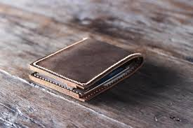 handmade leather wallet unique personalized gift idea