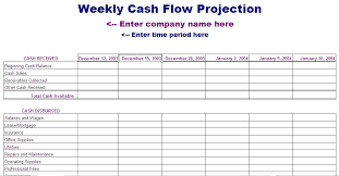 Weekly Cash Flow Template Blue Layouts